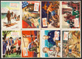 """Non-Sport Cards:Lots, 1954 Topps """"Scoops"""" Collection (72)...."""
