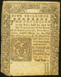 Colonial Notes:Connecticut, Connecticut June 7, 1776 5s Uncancelled Fine.. ...