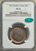 1926 50C Sesquicentennial MS62 NGC. CAC. NGC Census: (641/3555). PCGS Population: (629/4435). CDN: $88 Whsle. Bid for NG...