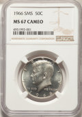 SMS Kennedy Half Dollars, 1966 50C SMS MS67 Cameo NGC. NGC Census: (1023/171). PCGS Population: (324/18). ...