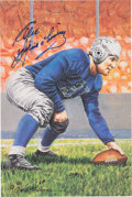 Football Collectibles:Others, 1992 Alex Wojciechowicz Signed Goal Line Art Card....