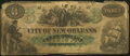 Obsoletes By State:Louisiana, New Orleans, LA - City of New-Orleans Counterfeit $3 Oct. 24, 1862 Very Good.. ...