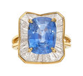 Estate Jewelry:Rings, Sapphire, Diamond, Gold Ring The ring feature...