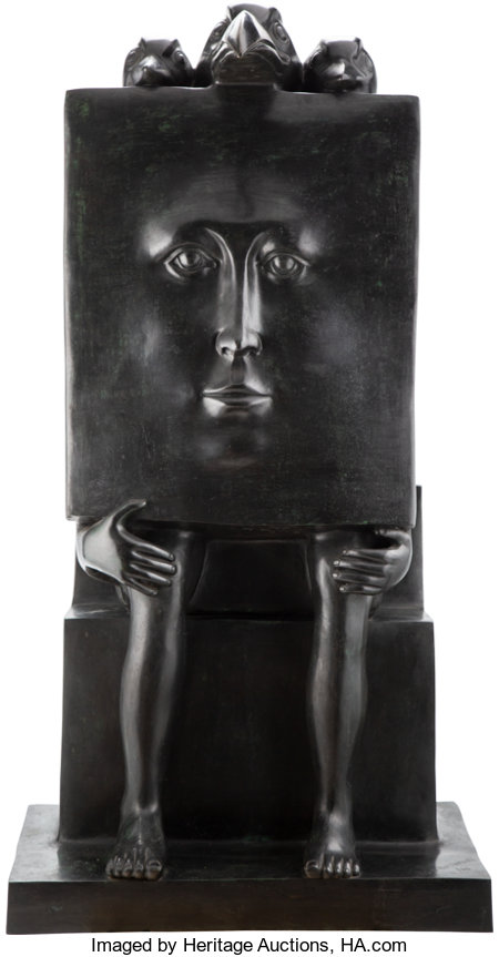Sergio Bustamante (Mexican, b. 1949) Untitled, 1986 Bronze 38 x 29-1/2 x 21 inches (96.5 x 74.9 x 53.3 cm) Incised t...