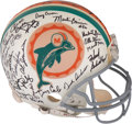 Football Collectibles:Helmets, 1972 Miami Dolphins Limited Edition Team Signed Helmet (30th Anniversary of Perfect Season). ...
