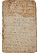 Autographs:Military Figures, Confederate Private John F. Carpenter, 19th Virginia Infantry, Diary....
