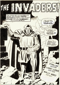 Wally Wood Astonishing Tales #4 Splash Page 1 Doctor Doom Original Art (Marvel, 1970)