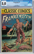 Golden Age (1938-1955):Classics Illustrated, Classic Comics #26 Frankenstein - First Edition (Gilberton, 1945) CGC VG/FN 5.0 Off-white pages....