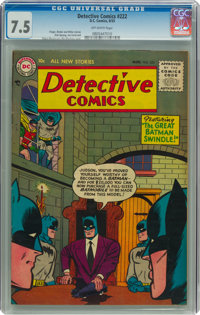 Detective Comics #222 (DC, 1955) CGC VF- 7.5 Off-white pages