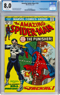 The Amazing Spider-Man #129 (Marvel, 1974) CGC VF 8.0 White pages