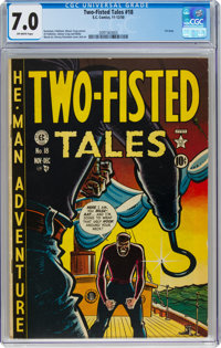 Two-Fisted Tales #18 (EC, 1950) CGC FN/VF 7.0 Off-white pages