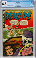 Golden Age (1938-1955):Horror, Beware #9 (Trojan/Prime, 1954) CGC FN+ 6.5 Off-white to white pages....