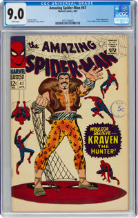 The Amazing Spider-Man #47 (Marvel, 1967) CGC VF/NM 9.0 White pages