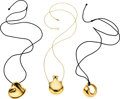 Estate Jewelry:Necklaces, Gold Pendant-Necklaces, Elsa Peretti for Tiffany & Co. . ... (Total: 3 Items)