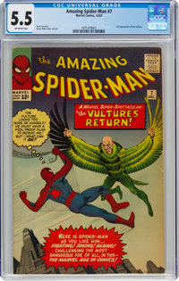 The Amazing Spider-Man #7 (Marvel, 1963) CGC FN- 5.5 Off-white pages