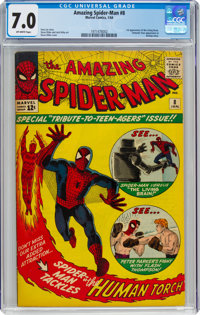 The Amazing Spider-Man #8 (Marvel, 1964) CGC FN/VF 7.0 Off-white pages