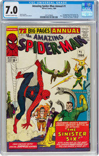 The Amazing Spider-Man Annual #1 (Marvel, 1964) CGC FN/VF 7.0 Off-white to white pages