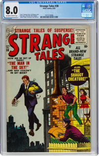 Strange Tales #38 (Atlas, 1955) CGC VF 8.0 Off-white to white pages