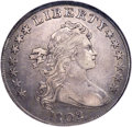 Early Dollars, 1802 $1 Narrow Date, B-6, BB-241, R.1, XF45 NGC. Bowers Die State III, lapped, although only lightly so. The shallow strand...