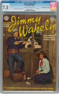 """Jimmy Wakely #6 Davis Crippen (""""D"""" Copy) Pedigree (DC, 1950) CGC VF- 7.5 Cream to off-white pages"""