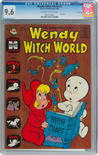 Wendy Witch World #9 File Copy (Harvey, 1964) CGC NM+ 9.6 Off-white to white pages