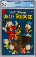 Golden Age (1938-1955):Cartoon Character, Four Color #495 Uncle Scrooge (Dell, 1953) CGC VG/FN 5.0 Cream to off-white pages....