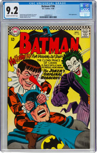 Batman #186 (DC, 1966) CGC NM- 9.2 Cream to off-white pages