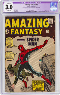 Amazing Fantasy #15 (Marvel, 1962) CGC Apparent GD/VG 3.0 Off-white pages