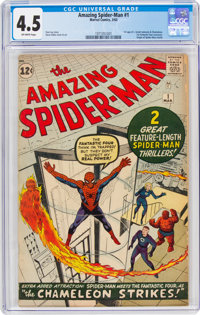 The Amazing Spider-Man #1 (Marvel, 1963) CGC VG+ 4.5 Off-white pages