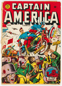 Captain America Comics #27 (Timely, 1943) Condition: FR