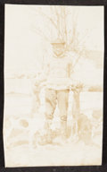 Baseball Collectibles:Photos, 1920s Ty Cobb Hunting Pose Photograph from The Ty Cobb Collection, PSA/DNA Type I....