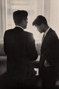 Prints & Multiples, Jacques Lowe (American, 1930-2001). Silhouette, John and Robert Kennedy in Conversation during the Democratic Convention, ...