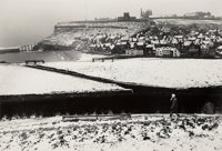 Roger Mayne (British, 1929-2014) Snow, Whitby, North Yorkshire (Whitby Abbey Ruin), 1972 Gelatin silver 12-3/4 x 18-7