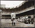 """Autographs:Baseballs, 1960s """"The Babe Bows Out"""" Nat Fein Signed Photograph, PSA/DNA Type II...."""