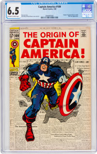 Captain America #109 (Marvel, 1969) CGC FN+ 6.5 Off-white to white pages