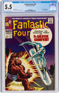 Silver Age (1956-1969):Superhero, Fantastic Four #55 (Marvel, 1966) CGC FN- 5.5 Off-white to white pages....