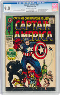 Silver Age (1956-1969):Superhero, Captain America #100 (Marvel, 1968) CGC VF/NM 9.0 Off-white to white pages....