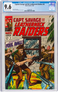 Silver Age (1956-1969):War, Captain Savage and His Leatherneck Raiders #8 (Marvel, 1968) CGC NM+ 9.6 Off-white to white pages....