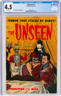 Golden Age (1938-1955):Horror, The Unseen #14 (Standard, 1954) CGC VG+ 4.5 White pages....