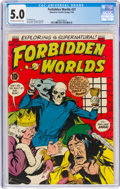 Golden Age (1938-1955):Horror, Forbidden Worlds #31 (ACG, 1954) CGC VG/FN 5.0 Off-white to white pages....