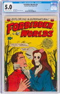 Golden Age (1938-1955):Horror, Forbidden Worlds #24 (ACG, 1953) CGC VG/FN 5.0 Off-white to white pages....