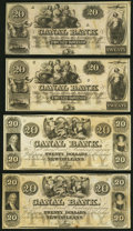 Obsoletes By State:Louisiana, New Orleans, LA- New Orleans Canal and Banking Company $20 18__, Four Remainders Crisp Uncirculated or Better.. ... (Total: 4 notes)