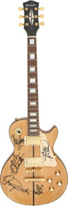 Musical Instruments:Electric Guitars, The Who Printed Band Signature ThreeStar Electric Guitar, ...