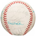 Autographs:Baseballs, 1976 American League All-Star Game Team Signed Baseball from The Don Denkinger Collection....