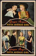 "Movie Posters:Comedy, Fifth Avenue Girl (RKO, 1939). Overall: Very Fine. Lobby Cards (2) (11"" X 14""). Comedy.. ... (Total: 2 Items)"