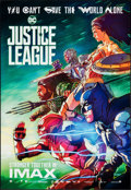 "Movie Posters:Action, Justice League (Warner Bros., 2017). Rolled, Very Fine+. IMAX Exclusive Poster (13"" X 19"") & Cinemark Exclusive Poster (24"" ..."
