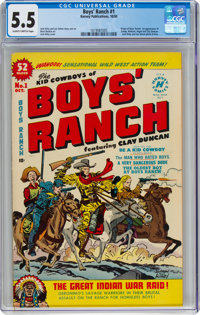 Boys' Ranch #1 (Harvey, 1950) CGC FN- 5.5 Slightly brittle pages