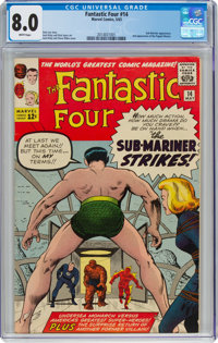 Fantastic Four #14 (Marvel, 1963) CGC VF 8.0 White pages
