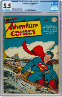 Adventure Comics #129 (DC, 1948) CGC FN- 5.5 Off-white pages