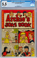 Golden Age (1938-1955):Humor, Archie's Joke Book Magazine #1 (Archie, 1953) CGC FN- 5.5 White pages....